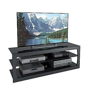 CorLiving TSL-203-T Santa Lana Black Matte TV Stand for TVs up to 65""