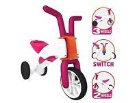 Girls 2 in 1 trike and balance bike