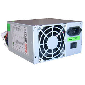 ATX 500W 500 Watt PC PSU Power Supply Quiet Silent 20-24 PIN with SATA OEM