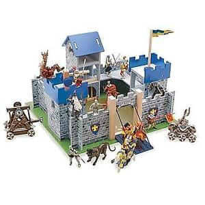 New Le Toy Van Castle Playset, Excalibur Castle, Blue, PICKUP ONLY - DI5