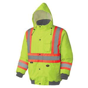 Pioneer Hi-Vis Waterproof Winter Insulated Safety Bomber Jacket