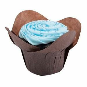 "New, 2"" x 2-3/4"" Large Chocolate Lotus Baking Cup (Open box) *PickupOnly"