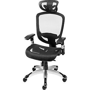 NEW, never used Mesh Office Chair, black and chrome