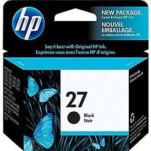 Cartouche d'encre noire HP 27 neuve!!!