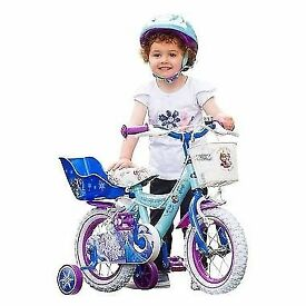 Girls frozen theme bike