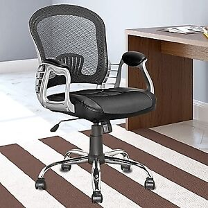 CorLiving LOF-208-O Workspace Executive Office Chair, Black Leat