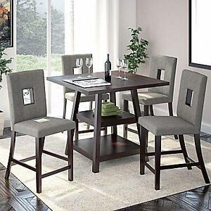 CorLiving DIP-490-Z1 5-Pc Bistro Counter Height Dining Set,    BRAND NEW!