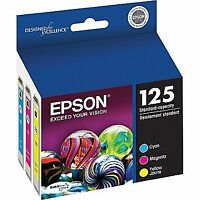 Printer Ink Epson 125 NEW in box! Cyan Magenta Yellow (Paid $54)