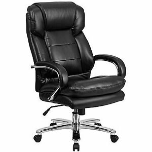 """New """"Big & Tall"""" Leather Office Chair"""