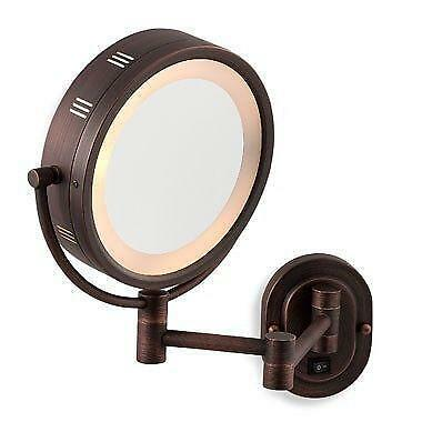 Lighted Makeup Mirror Bronze Ebay