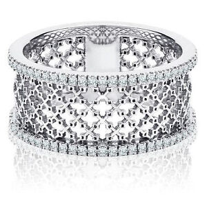 BIRKS Muse Collection, Diamond Wide Mesh Ring, in 18k