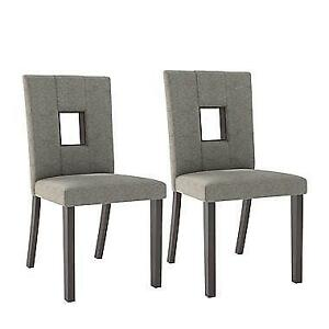 CorLiving DIP-421-C Bistro Grey Sand Dining Chairs, Set of 2