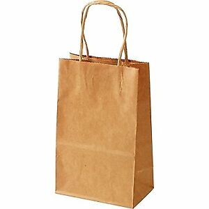 Kraft Shopping Bags - 200 Small