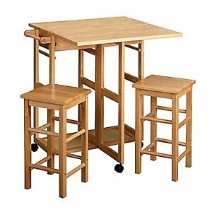 drop leaf table with stools