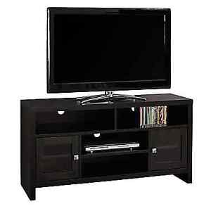 """Monarch I 2704 TV Stand with Glass Doors, 48"""" L, Cappuccino"""