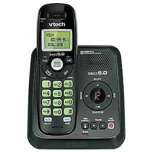 VTech  1 Handset DECT 6.0 Cordless Phone with Answering Machine