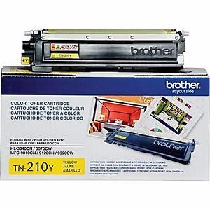 TN-210Y 100 % Genuine Brother Toner Cartridge Yellow up to 1400 pages for HL3040CN HL3070CW MFC9010CN MFC9120CN MFC9320C
