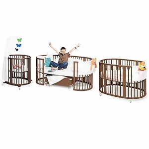 Stokke Crib and Bed w/Junior extension kit (value 1300+)