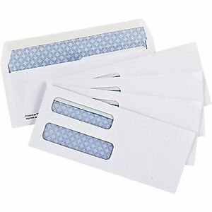 #8 double window envelopes security tint