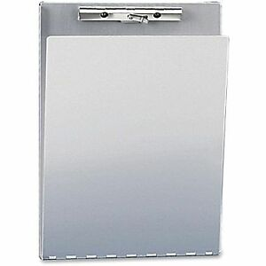 """Saunders 1/2"""" Clipboard with Hinged Cover, Aluminum"""