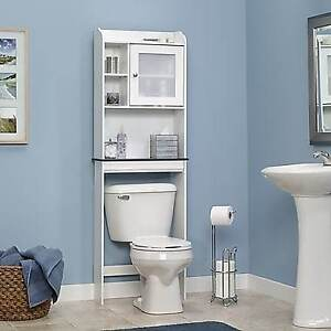 NEW 21 INCH OVER THE TOILET STORAGE CABINET