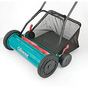"""Gilmour 20"""" Adjustable Hand Reel Mower with Grass Catcher"""