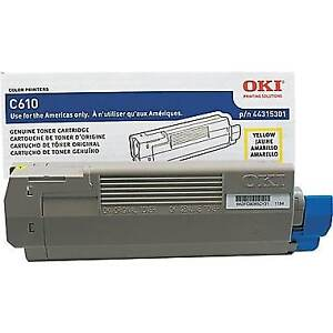 OKI C610 Printer Cartridge Yellow