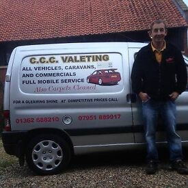 CCC Valeting - high quality, professional and reliable Car & Caravan Valeting plus Carpet Cleaning