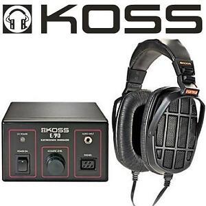 NEW KOSS ELECTROSTATIC STEREOPHONE - 128100750 - OVER EAR HEADPHONES AUDIO