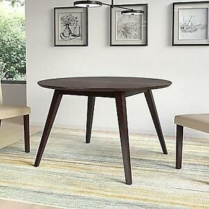 """CorLiving DRG-897-T Atwood 47"""" Round Stained Dining Table, Cappuccino"""