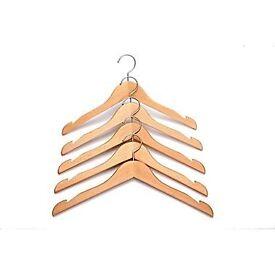 Wooden Coat Hangers - Excellent Quality. £10 for 20 hangers or £50 for 120 hangers.