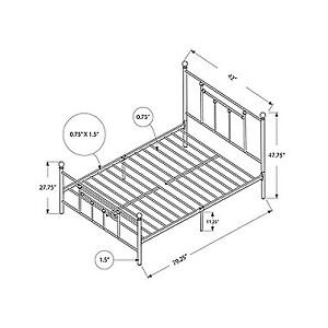Twin size black metal bed frame