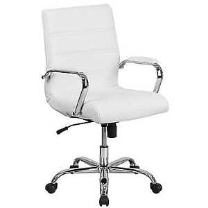 White Leather Computer Chair