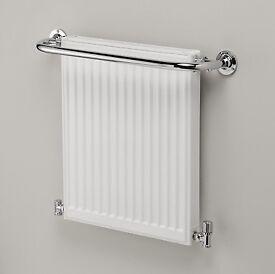 GRAB A BARGAIN! New Ultraheat Hampton bathroom radiator with integrated heated towel rail.