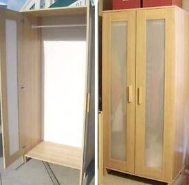 Ikea wardrobe - wood effect 'aneboda' style
