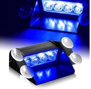 blue led emergency vehicle light ems firefighter ebay. Black Bedroom Furniture Sets. Home Design Ideas