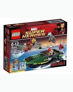 Lego Marvel Super Heroes Iron Man Extremis Sea Port Battle 76006
