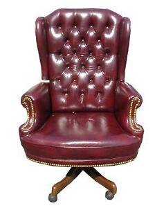antique leather chair ebay