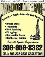 Water wells drilled and serviced
