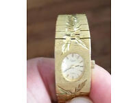 Women Vintage EVERITE Ladies hand winding watch Mechanical gold tone Swiss Lady