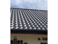 Roofing sheets tile effect
