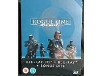 Star Wars Rogue One 3D/2D Blu Ray Steelbook New/sealed zavvi Exclusive