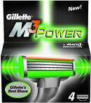 Gillette M3 power scheermesjes (4st) (Gillette M3 Power)