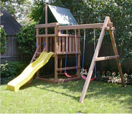WANTED, garden playhouse / swings
