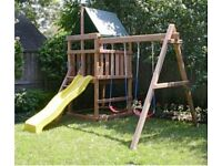 WANTED, garden playhouse / swings