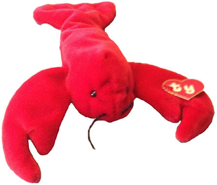 Pinchers is a red lobster that was part of the original crop of Beanie  Babies. It was originally released as