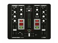 behringer vmx100usb professional 2-channel dj mixer with usb/audio interface