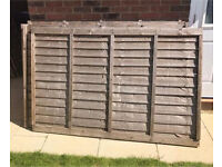 Pressure treated fence panels (7 available)