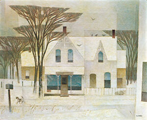 """A.J. Casson """"Sunday Morning"""" Lithograph - Appraised at $750"""