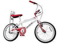 one direction chopper bike with helmet, both new and unused